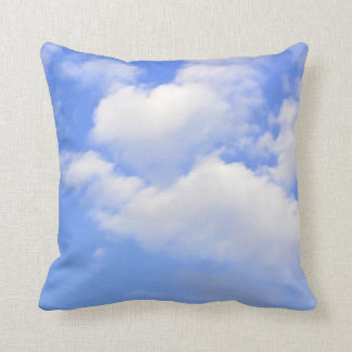 Heart of clouds Throw Pillow