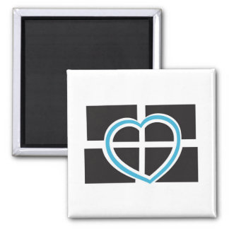 Heart of Cornwall Square Magnet