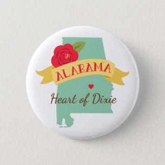 Heart Of Dixie 2 Inch Round Button