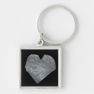 Heart of Duct Tape Silver-Colored Square Keychain