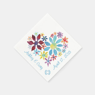 Heart of Flowers Disposable Napkins