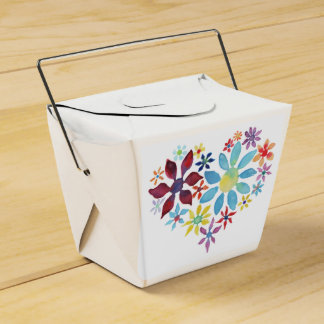 Heart of Flowers Wedding Favor Boxes