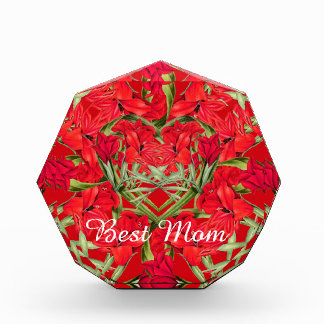 Heart of Gladiola Flowers Floral Best Mom Award