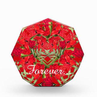 Heart of Gladiola Flowers Floral Wedding Award