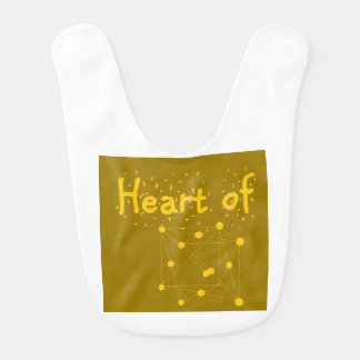 heart of gold baby outfit great gift for scientist bib