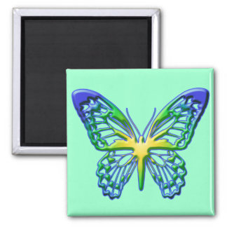 Heart of Gold Butterfly Magnet