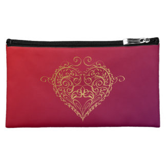 Heart of Gold Cosmetic Bag