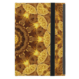 Heart of Gold Mandala Cover For iPad Mini