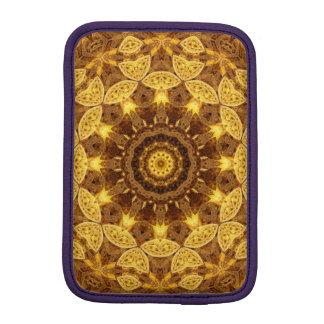 Heart of Gold Mandala iPad Mini Sleeve