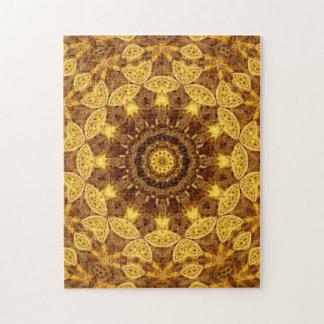 Heart of Gold Mandala Jigsaw Puzzle