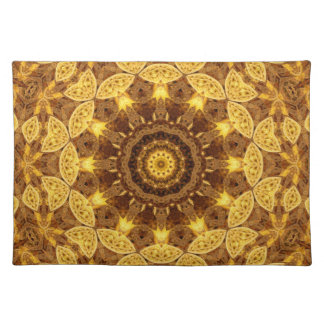 Heart of Gold Mandala Placemat