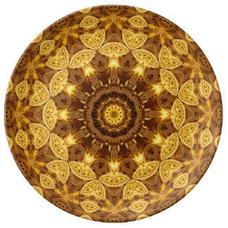 Heart of Gold Mandala Plate