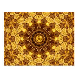 Heart of Gold Mandala Postcard