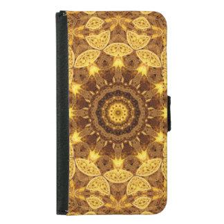 Heart of Gold Mandala Samsung Galaxy S5 Wallet Case