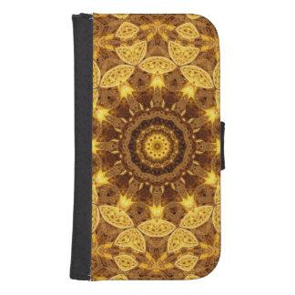 Heart of Gold Mandala Samsung S4 Wallet Case