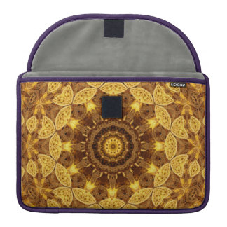 Heart of Gold Mandala Sleeve For MacBook Pro