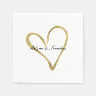 Heart of Gold Paper Napkin