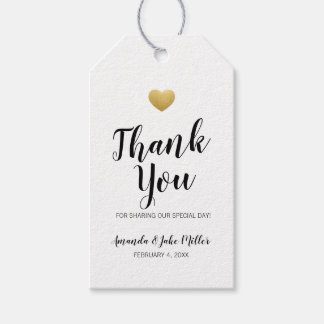 Heart of Gold Thank You Favor Tag