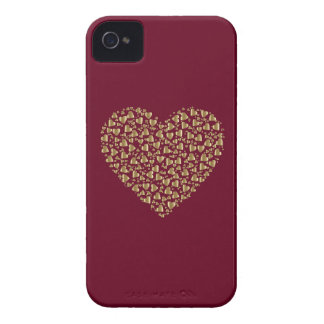 Heart of Gold Valentine Case-Mate iPhone 4 Case