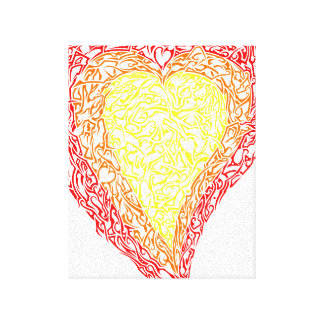 Heart of Gold Wrapped Canvas