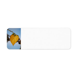 Heart Of Gold Yellow Leaf Avery Label Return Address Label