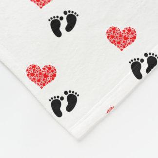 Heart Of Hearts Love Feet Fleece Blanket