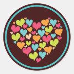 Heart of Hearts Love Sticker in Bright Colour