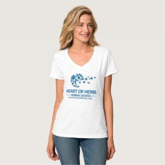 Heart of Herbs Herbal School Logo V-Neck T-Shirt