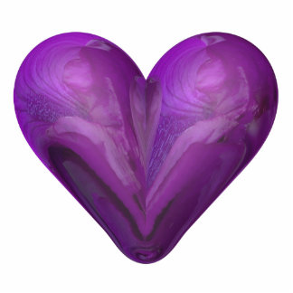 heart of iris photo sculpture magnet