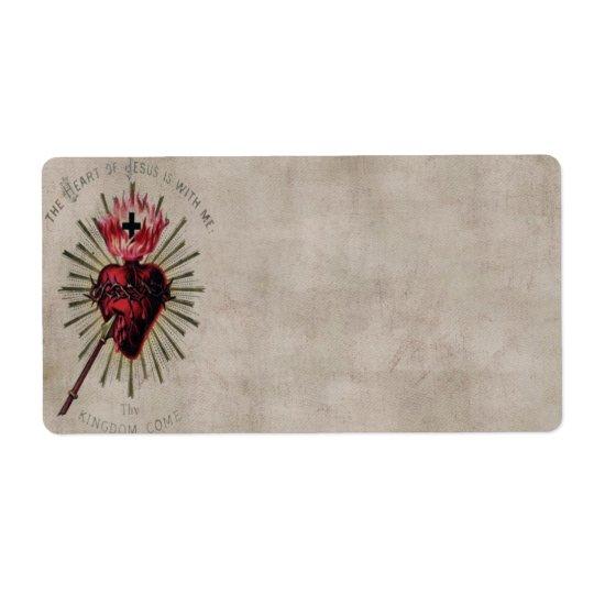 Heart Of Jesus Avery Label