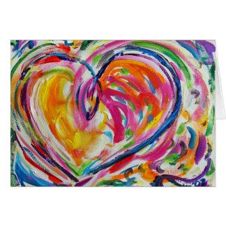Heart of Joy Painting Custom Art Greeting Card