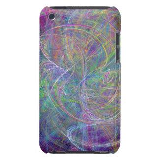 Heart of Light – Aqua Flames & Indigo Swirls Barely There iPod Cases