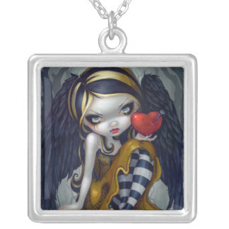 Heart of Nails NECKLACE gothic valentine fairy
