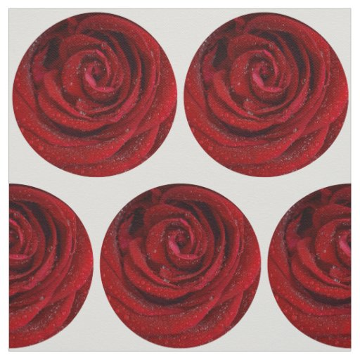 Heart of red rose fabric