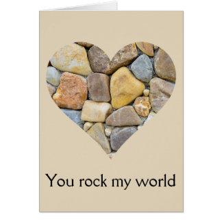 Heart of Rocks Valentine Card