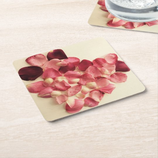 Heart of Rose petals Coaster