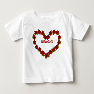 Heart of roses baby T-Shirt