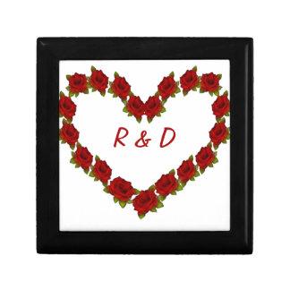Heart of roses gift box
