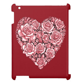 Heart of roses iPad covers