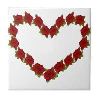 Heart of roses tile
