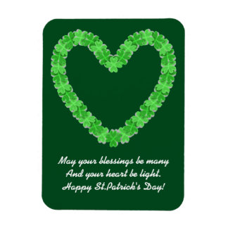 Heart Of Shamrocks Magnet