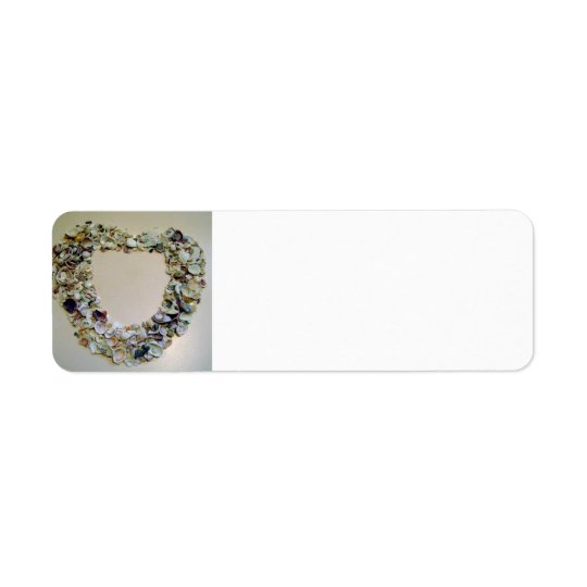 Heart of Shells Return Address Label