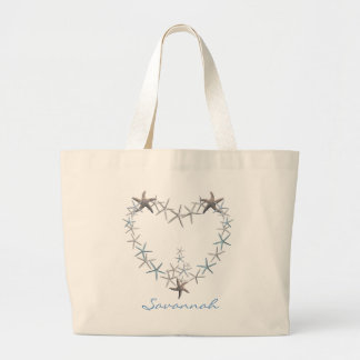 Heart of Starfish Personalized Tote Bag
