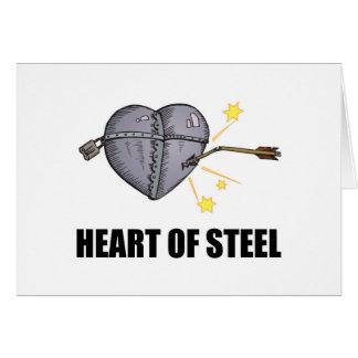 heart of steel greeting card