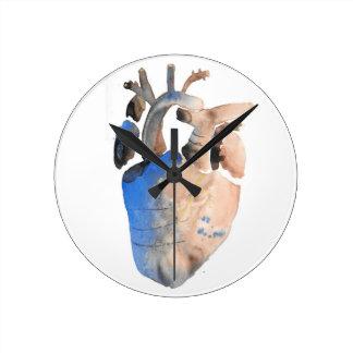 Heart of Stone Round Clock