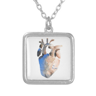 Heart of Stone Silver Plated Necklace
