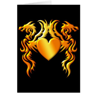 HEART OF THE DRAGONS GREETING CARD