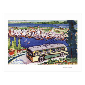 Heart of the Evergreen Playground Postcard