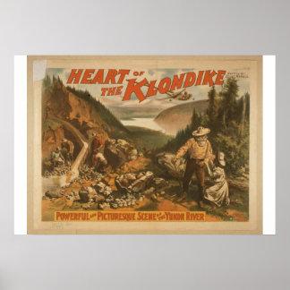 Heart of the Klondike, 'Yukon River' Retro Theater Poster