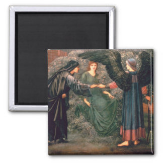 Heart of the Rose Square Magnet